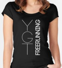 Fundamental YGTee (White Text) Women's Fitted Scoop T-Shirt