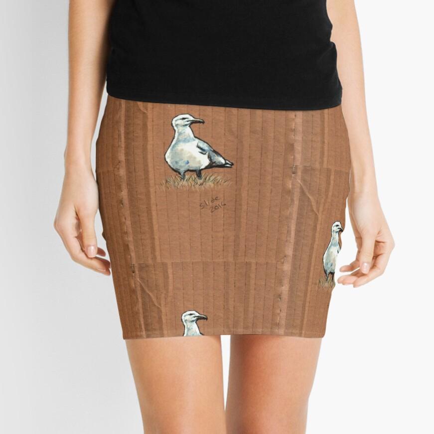 Gulls on Grass #2 Mini Skirt