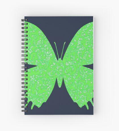 #DeepDream Lime Green color Butterfly Spiral Notebook