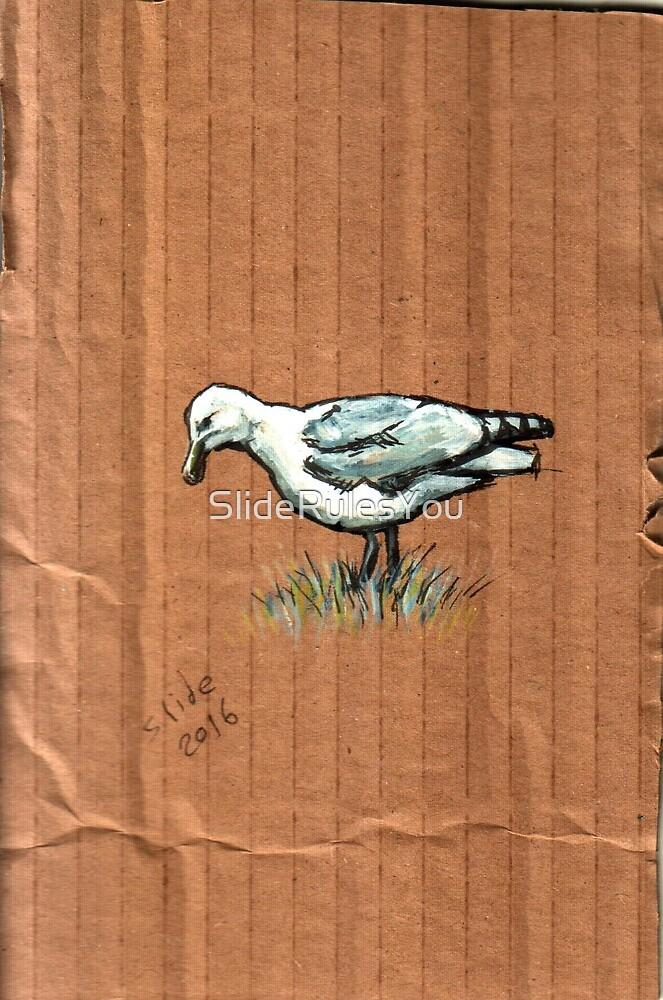 Gulls on Grass, #3 by SlideRulesYou