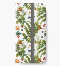 Forest ferns, berries and mushrooms iPhone Wallet