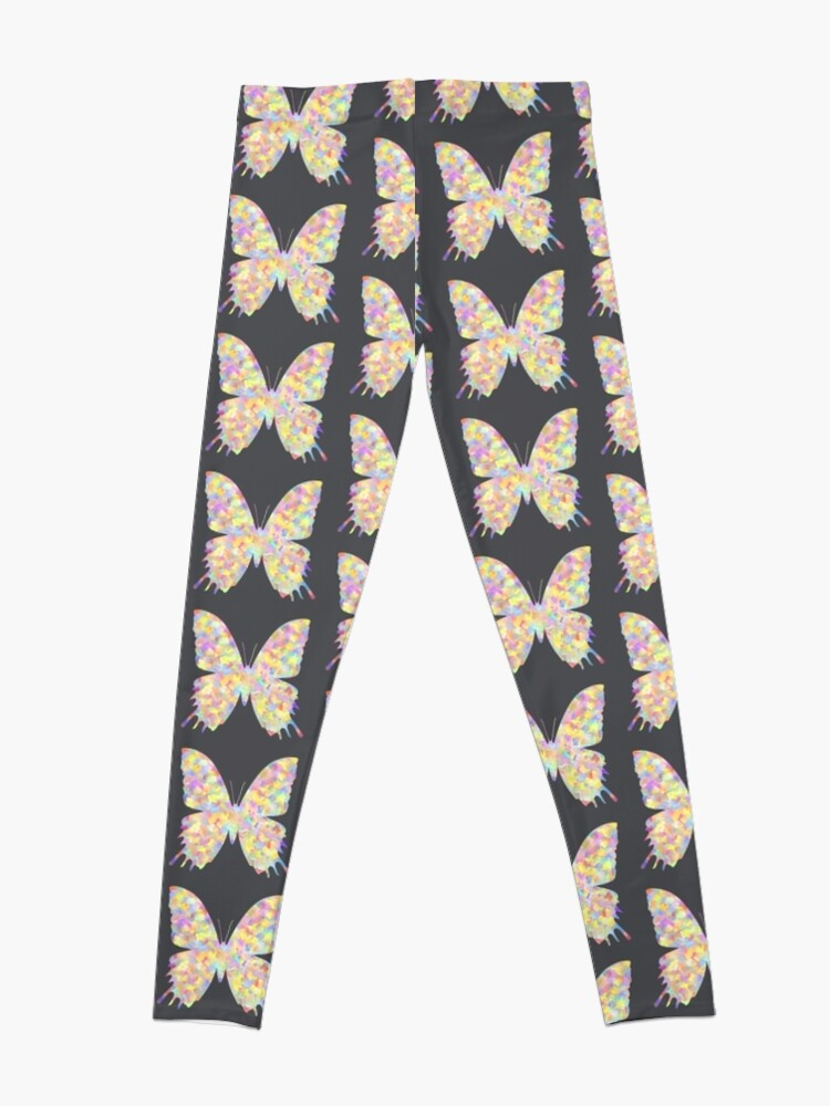 Alternate view of Pastel Motley Butterfly Leggings