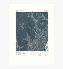 USGS TOPO Map Alabama AL Doran Cove 20100510 TM Art Print