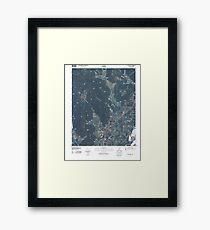 USGS TOPO Map Alabama AL Doran Cove 20100510 TM Framed Print
