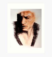 Charcoal Portrait - Shah Rukh Khan Art Print
