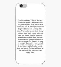 Der Fitnessgram Schrittmacher Test lustig iPhone-Hülle & Cover