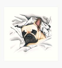 french bulldog - @MiudaFrenchie Art Print