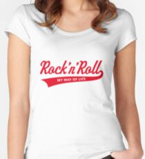 Rock 'n' Roll – My Way Of Life (Red) Women's Fitted Scoop T-Shirt
