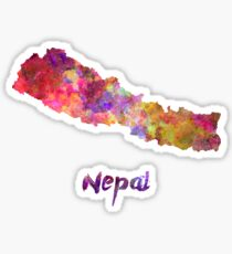 Nepal in watercolor Sticker