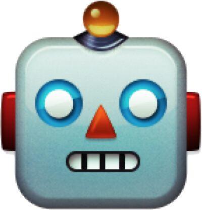 Robot face emoji