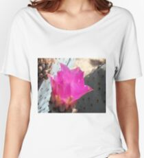 Pink Cactus Flower Up Close Women's Relaxed Fit T-Shirt