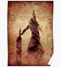 Silent Hill Pyramid Head Illustration Poster