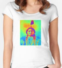 SITTING BULL Women's Fitted Scoop T-Shirt