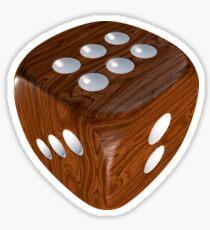 Wooden roller dice Sticker