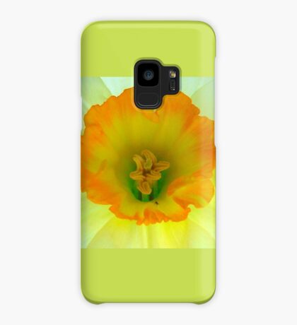 Daffodil close-up with visitor Case/Skin for Samsung Galaxy