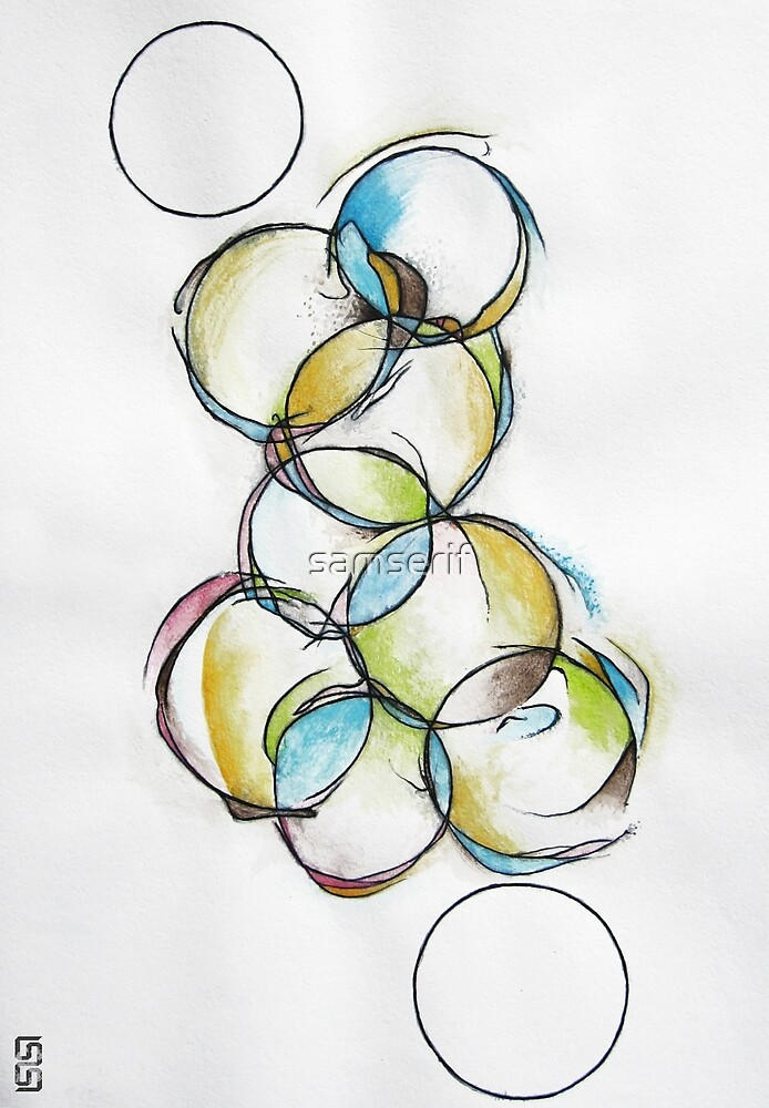 Circle Abstract - Counting To Ten by samserif