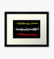 Linear fraction Framed Print