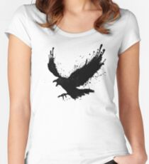 Camiseta entallada de cuello redondo Cuervo