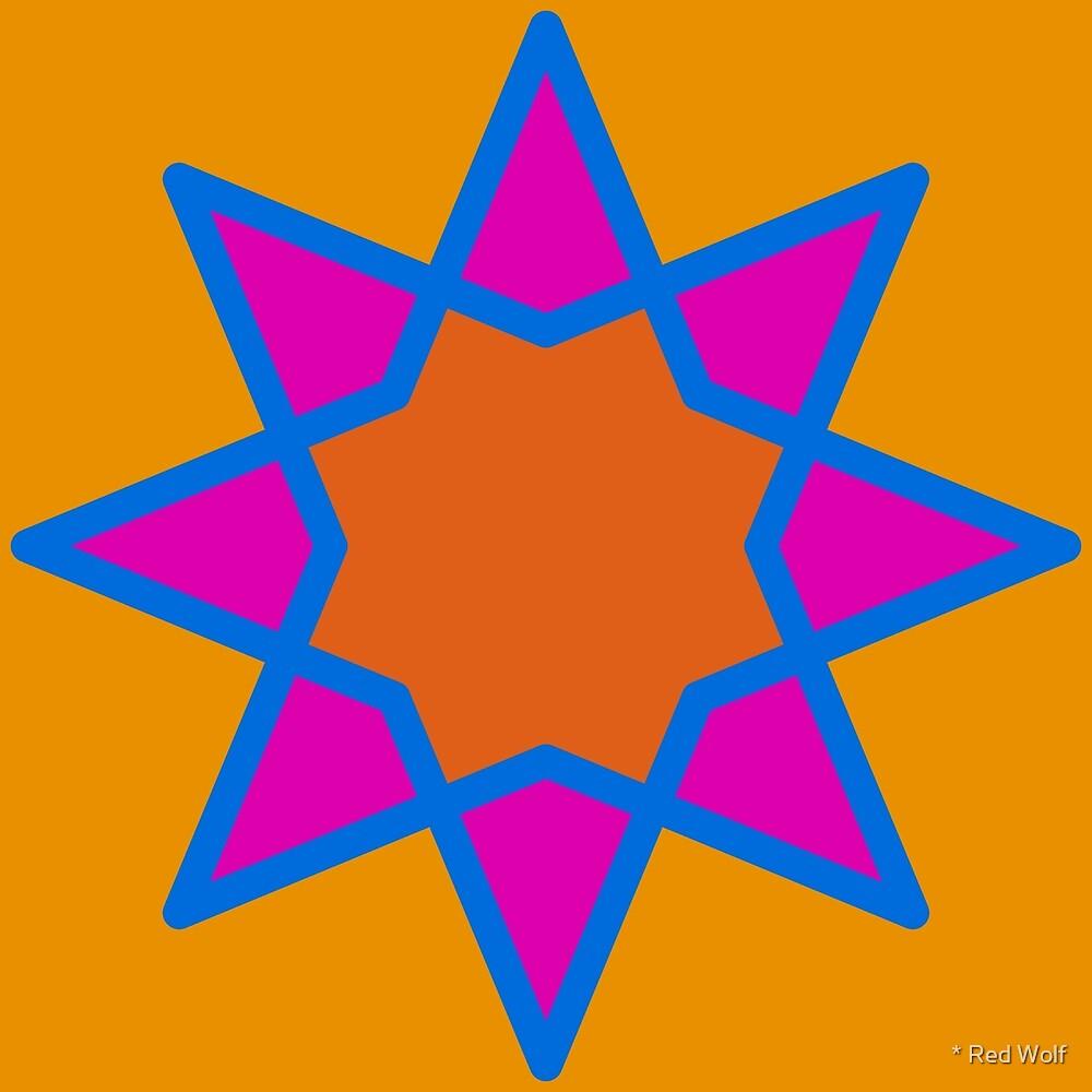 Geometric Pattern: Octagram: Ashbury by * Red Wolf