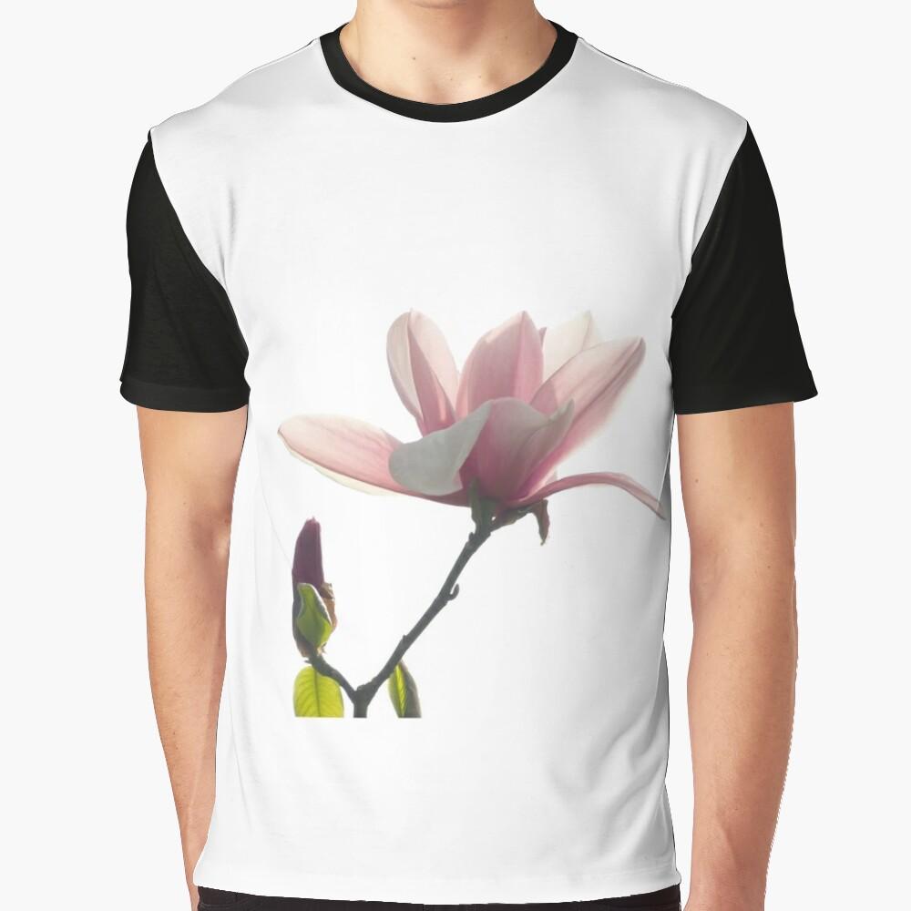 Pink magnolia unfolding Graphic T-Shirt