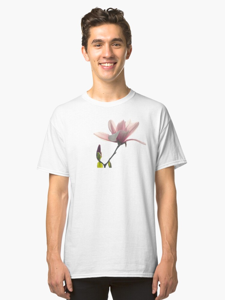 Alternate view of Pink magnolia unfolding Classic T-Shirt