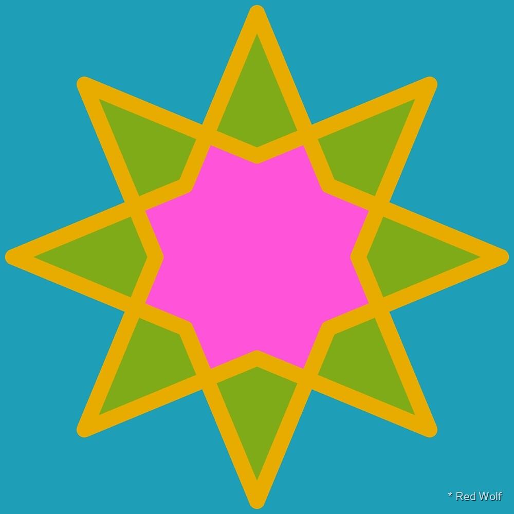 Geometric Pattern: Octagram: Mysterioso by * Red Wolf