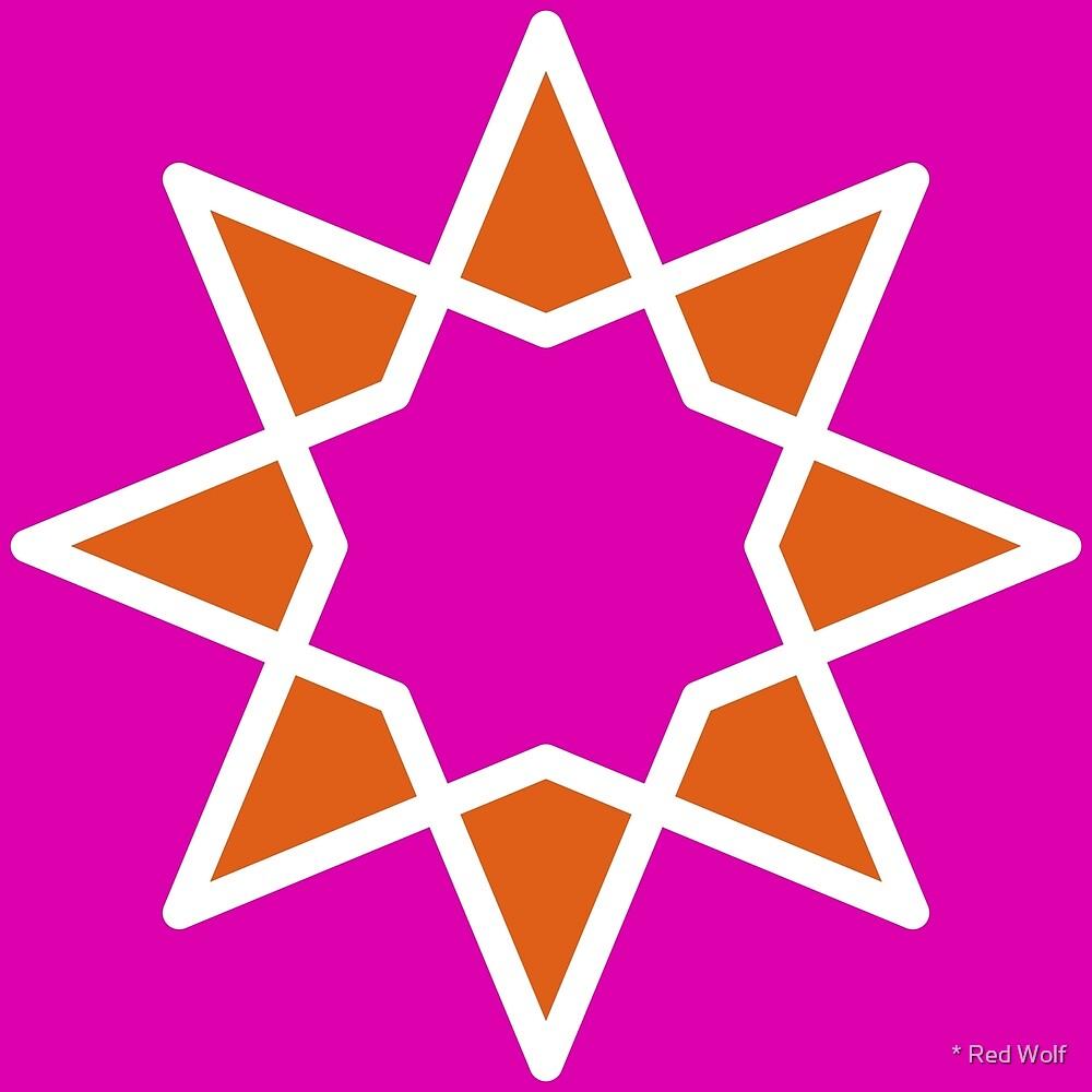 Geometric Pattern: Octagram: Popcorn by * Red Wolf