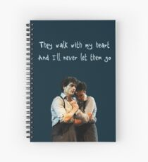 They walk with my heart Spiral Notebook