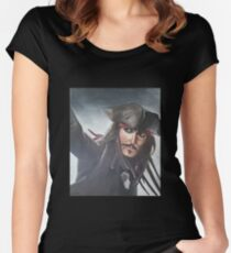 Captain Jack Sparrow - Johnny Depp Women's Fitted Scoop T-Shirt