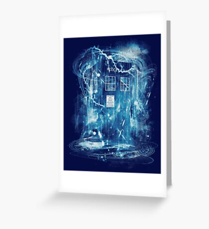 Time and space storm Greeting Card
