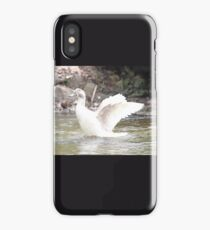 White Female Duck iPhone Case