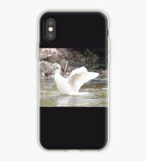 White Female Duck iPhone Case