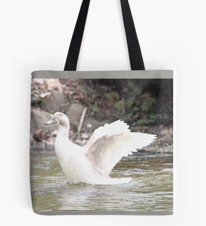 White Female Duck Tote Bag