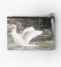 White Female Duck Studio Pouch