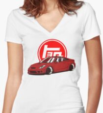 Toyota Celica T23 7gen Women's Fitted V-Neck T-Shirt