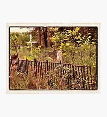 """"""" 'THE CEMETERY', a Series, #10,  Hinds Valley Cemetery """"... prints and products Photographic Print"""