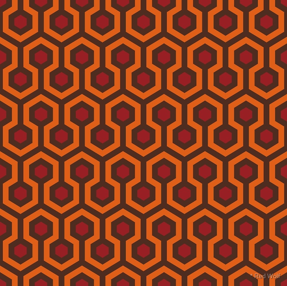 Overlook Hotel Carpet from The Shining: Orange/Red/Brown by * Red Wolf