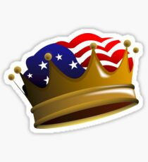Royal USA Crown Sticker