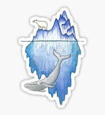Iceberg with Polar Bear & Whale Sticker