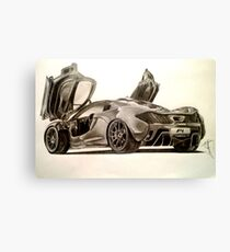 Supercar Drawing Canvas Prints Redbubble