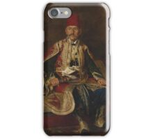 FRANZ RUBEN - TURKISH NOBLE SEATED IN A CARPETED INTERIOR iPhone Case/Skin