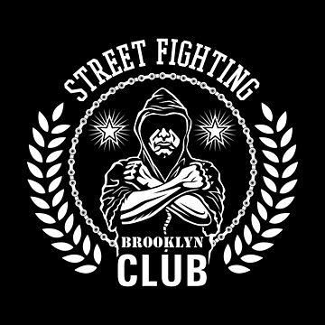 Street fight emblem Brooklyn Club white by valerisi
