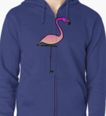 Flamingo Zipped Hoodie