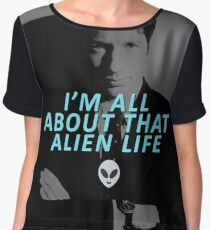 All About That Alien Life Women's Chiffon Top