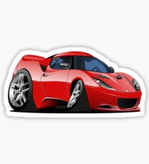 Cartoon Sportcar Sticker