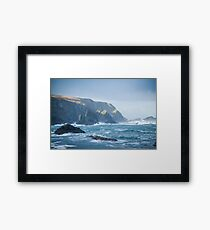 Cliffs at Port, Glencolmcille Framed Print