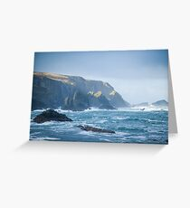 Cliffs at Port, Glencolmcille Greeting Card