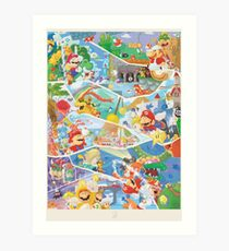 30 years of Mario  Art Print