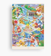 30 years of Mario  Canvas Print