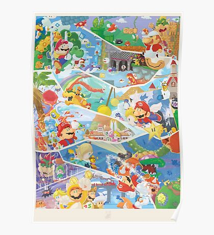30 years of Mario (40 Left !) Poster